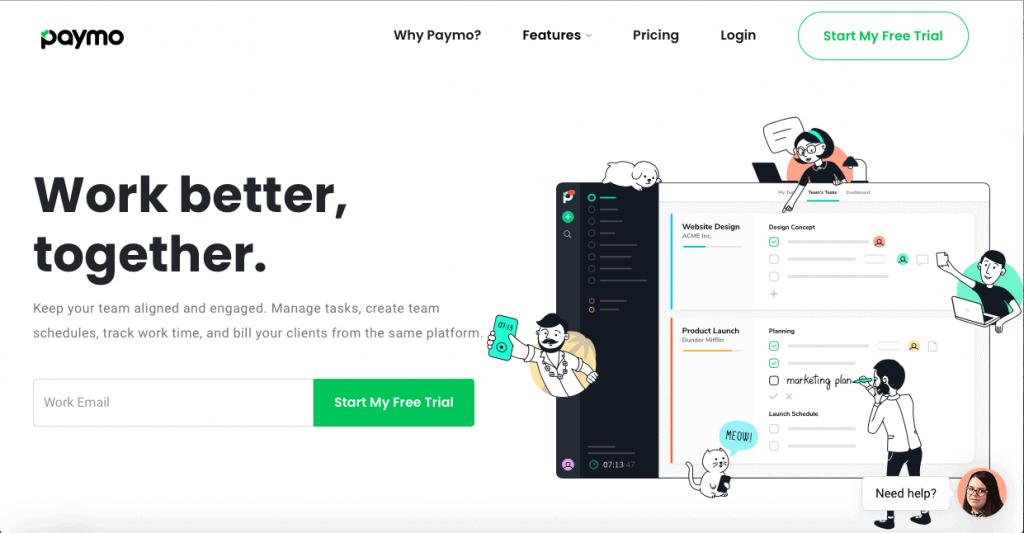 Paymo App Hero