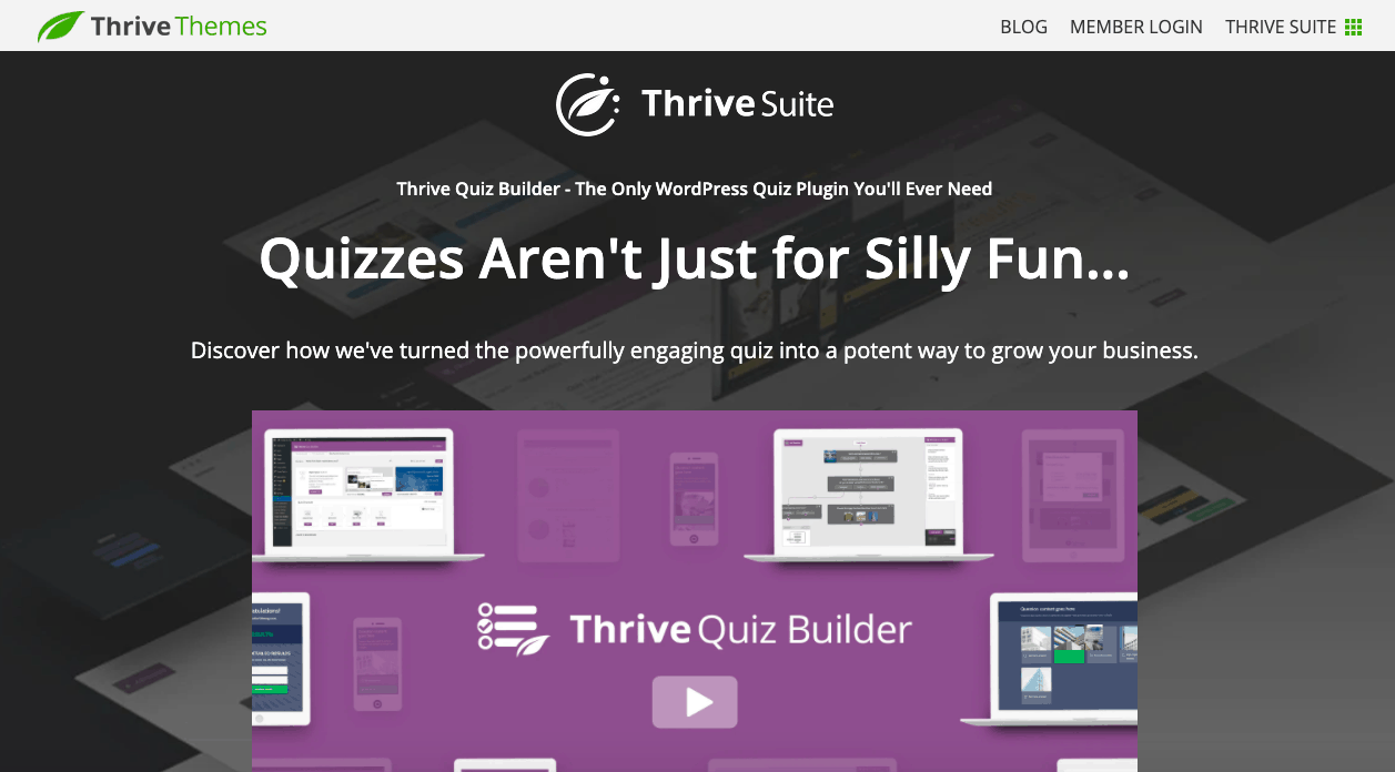 Thrive Quiz Builder Hero