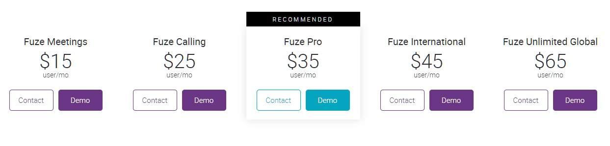Fuze Pricing