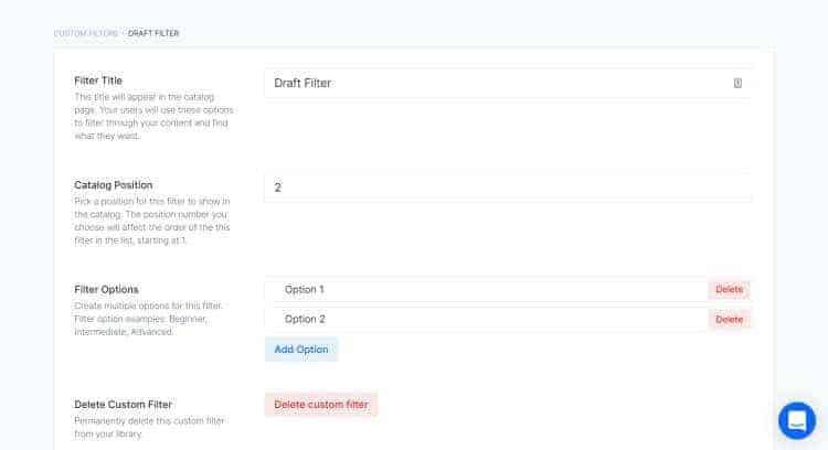 uscreen draft filter